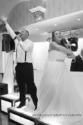 Bride and groom from Connecticut singing live