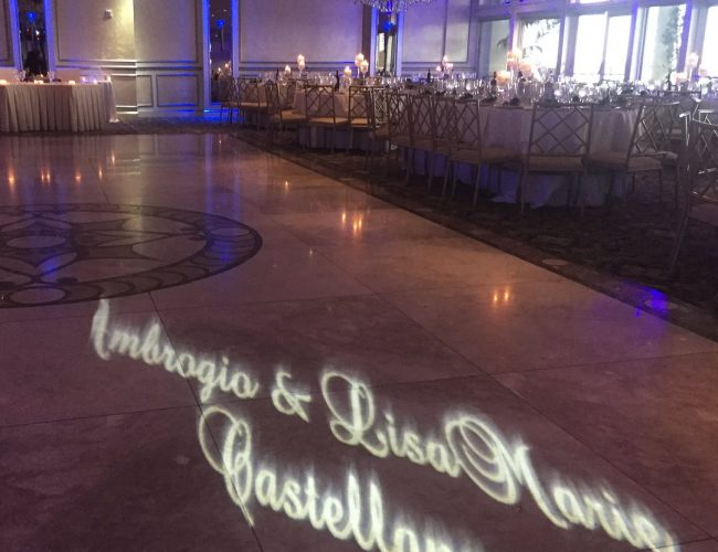 Monogram on dance floor