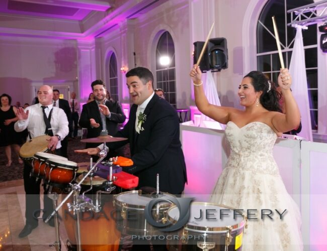 Bride & Groom Playing Percussion